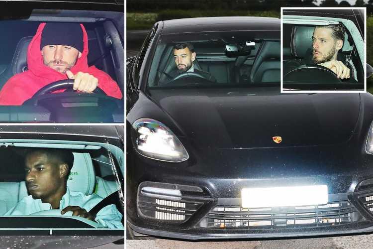 Glum Man Utd flops arrive at training for showdown talks as Ole Gunnar Solskjaer clings to his job after Liverpool loss