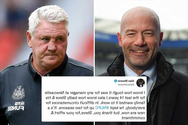'Most gentle person in football' – Alan Shearer and Allan Saint-Maximin react to Steve Bruce's Newcastle sacking